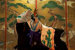 真桑人形浄瑠璃 三番叟 物部神社の写真素材 [FYI03988805]