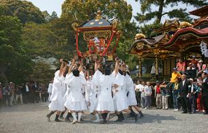 揖斐祭 三輪神社 神輿の写真素材 [FYI03988859]