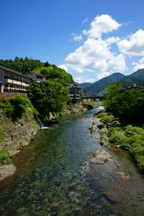 吉田川 郡上八幡城を望むの写真素材 [FYI03988953]