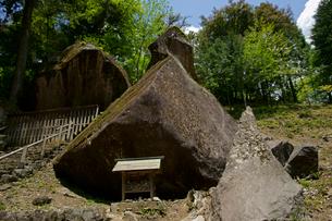 岩屋岩蔭遺跡巨石群 妙見神社の写真素材 [FYI03989324]