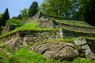 岩村城 六段壁の石垣の写真素材 [FYI03989332]