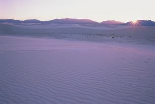夕日のホワイトサンズ国立公園の写真素材 [FYI03990320]