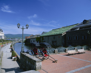 小樽運河の写真素材 [FYI03990417]