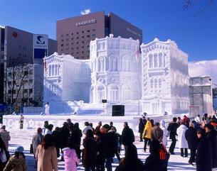 大雪像 ノルウェー国会議事堂 札幌雪まつり HBCの写真素材 [FYI03990625]
