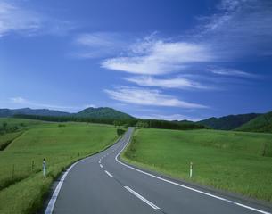 草原と道 上士幌北海道の写真素材 [FYI03990672]