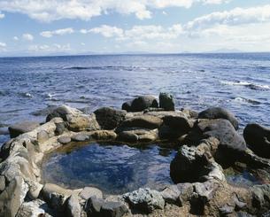 瀬石温泉の野天風呂の写真素材 [FYI03991412]