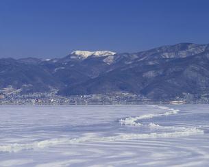 諏訪湖御神渡りの写真素材 [FYI03991631]