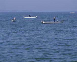 宍道湖しじみ漁の写真素材 [FYI03991703]