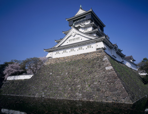 北東側からの小倉城と堀の写真素材 [FYI03991713]