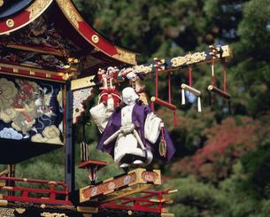 秋の高山祭 からくり布袋台の写真素材 [FYI03992023]