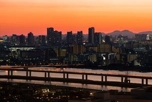 東京夕景の写真素材 [FYI03993092]