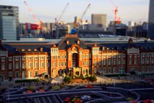 東京駅ミニチュア風風景の写真素材 [FYI03993116]