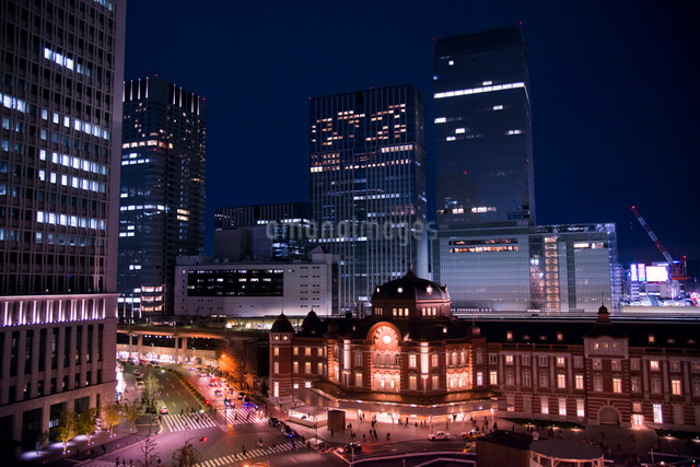 東京都心夜景の写真素材 [FYI03993119]