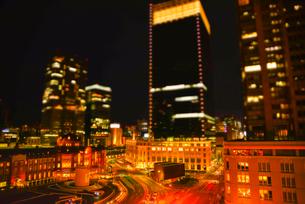 ミニチュア風東京高層ビル群風景の写真素材 [FYI03993121]