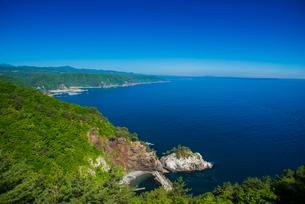 黒崎展望台からの三陸海岸線の写真素材 [FYI03993557]