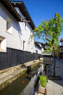 飛騨古川 瀬戸川と白壁土蔵街の写真素材 [FYI03994369]