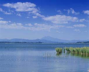 筑波山と霞ケ浦の写真素材 [FYI03994751]