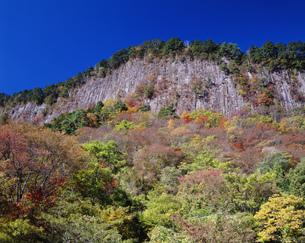 秋の奥香落渓屏風岩の写真素材 [FYI03994758]