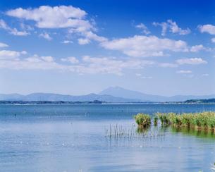 筑波山と霞ケ浦の写真素材 [FYI03994760]
