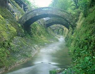 石見銀山羅漢寺の反り橋の写真素材 [FYI03994796]