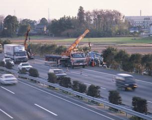 東北自動車道の事故処理の写真素材 [FYI03994875]