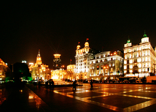 旧上海夜景の写真素材 [FYI03995699]