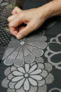 大島紬の機織りの写真素材 [FYI03995749]