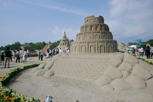 吹上砂丘砂の祭典の写真素材 [FYI03995878]