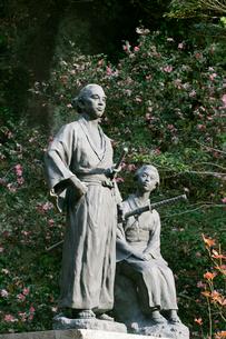 秋の坂本竜馬新婚の碑の写真素材 [FYI03995917]
