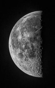 下弦の月の写真素材 [FYI03996655]