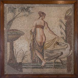 アフロディテ女神と白鳥(またはレダと白鳥)の写真素材 [FYI03996662]