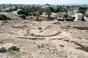 カトパフォスの古代ギリシャ劇場跡の写真素材 [FYI03996671]