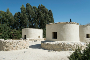石器時代のキロキティア遺跡の復元例の写真素材 [FYI03996706]