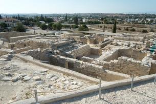 発掘中のイダリオン遺跡の写真素材 [FYI03996707]