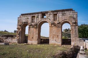 パタラ遺跡の凱旋門の写真素材 [FYI03996795]