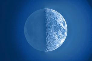 上弦の月の写真素材 [FYI03997069]