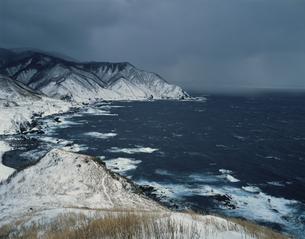 冬の竜飛岬 1月の写真素材 [FYI03997636]