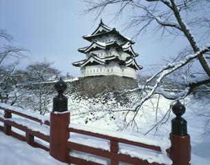 冬の弘前城 2月の写真素材 [FYI03997651]