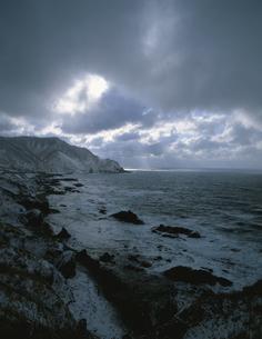 冬の竜飛岬の写真素材 [FYI03997663]