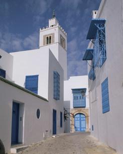 白い建物 チュニジアの写真素材 [FYI04001147]