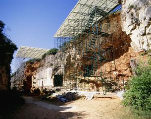 アタプエルカ先史時代の遺跡の写真素材 [FYI04001559]