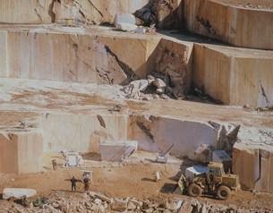 大理石採石場の写真素材 [FYI04003561]