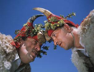 カントニグロ祭りの男の写真素材 [FYI04004402]