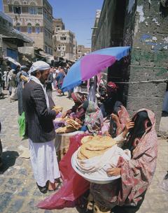 サヌアの旧市街 9月 イエメンの写真素材 [FYI04006033]