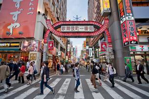 歌舞伎町の入り口の写真素材 [FYI04009023]
