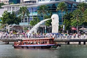 シンガポール マーライオンの写真素材 [FYI04009093]