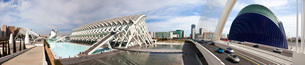 The City of Arts and Science built by Calatrava,Panoramaの写真素材 [FYI04009144]