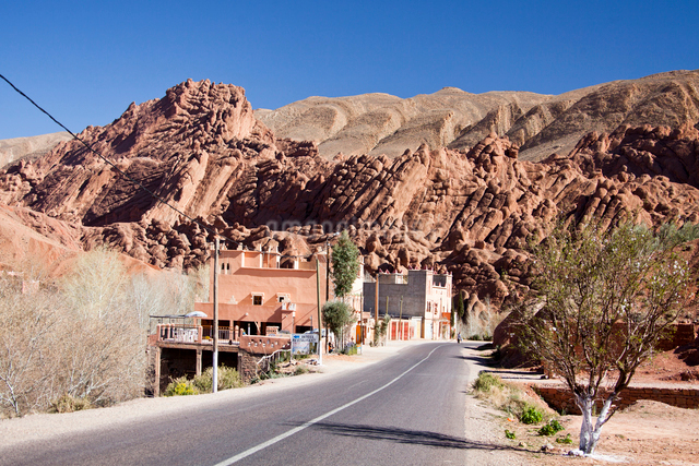 Dades Valley-Roadの写真素材 [FYI04009194]