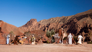 Dades Valley-Roadside picture spotの写真素材 [FYI04009196]