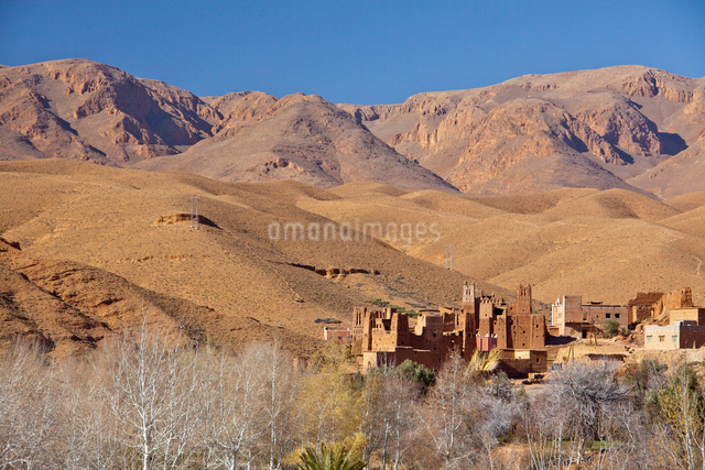 Dades Valley-Kasbahの写真素材 [FYI04009206]